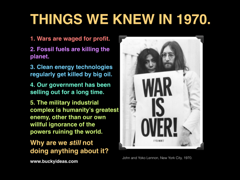 Things we knew in 1970.