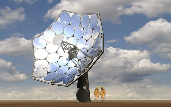 Harvest solar power and desalinate water -- a new species of flower power.